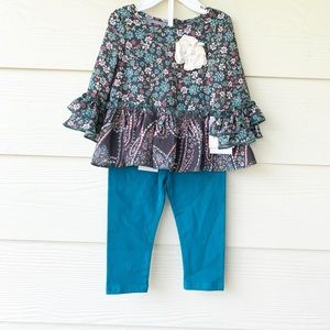 NWT Pippa & Julie Ruffled Top and bottom SZ 18 mos